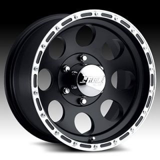 16 x10 Eagle 185 1852 Black Wheels Rims 5 6 8 Lug