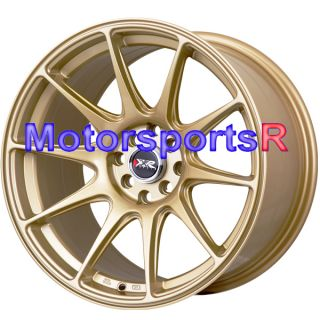 17 XXR 527 Gold Concave Rims Wheels Staggered Stance 89 90 94 Nissan