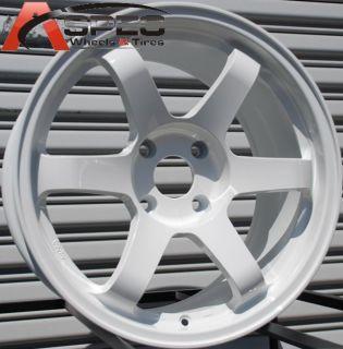17x9 5 Rota Grid Wheels 4x114 3 Rims 12mm White S13