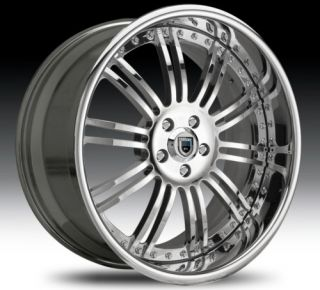 22 asanti AF128 Chrome Wheels Rims 3 Piece