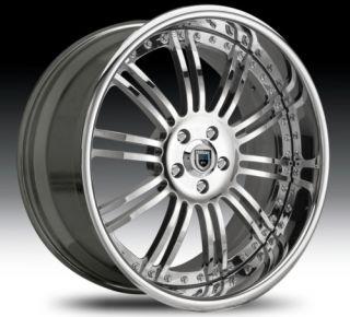 22 asanti AF128 Chrome Wheels Rims 3 Piece