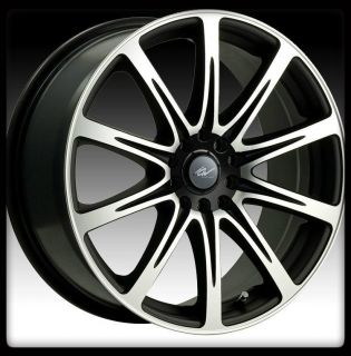 RACING 209MB EURO 4X100 4X4 25 CIVIC FOCUS BLACK MACHINED WHEELS RIMS