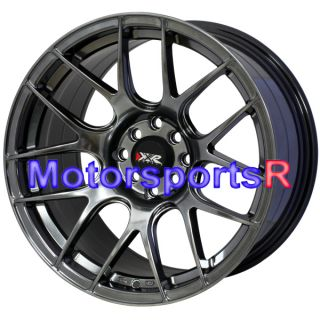 17 XXR 530 Chromium Black Rims Wheels Staggered 4x114 3 95 98 Nissan