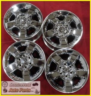 09 10 11 Silverado Escalade Sierra 18 Chrome Clad Wheels Used Rims