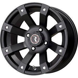 New 14X7 4x110 Raceline ATV Scorpion Black Wheels Rims