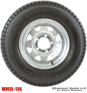 13 GALVANIZED WHEEL 175 80D13 BOAT CAMPER TRAILER SPARE RIM TIRE WHEEL