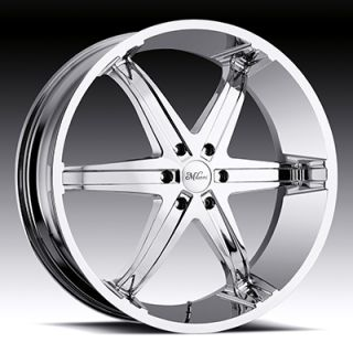 22 WHEELS RIMS MILANNI KOOL WHIP 6 CHROME TRAILBLAZER 9 7X SSR BRAVADA