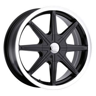 15 inch Vision 378 Kryptonite Black Wheels Rims 4x100
