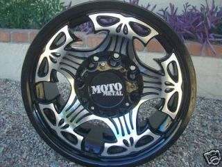 17 Inch BLACK Moto Metal Skull RIMS 6 Lug Wheels Tacoma Tahoe