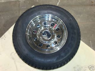 Chrome 13 Tires Wheels Enclosed Boat Trailer Parts