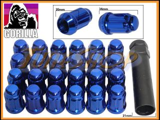 Tuner Lock Lug Nut 12x1 5 1 5 Acorn Wheels Rims Blue Close H