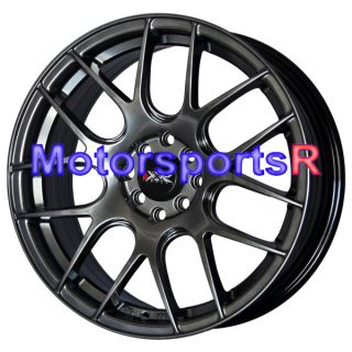 17 XXR 530 Chromium Black Concave Rims Wheels 05 Toyota MRS Echo 09