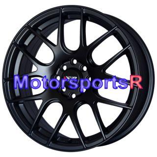 17 XXR 530 Flat Black Concave Rims Concave 03 05 06 Mitsubishi Lancer