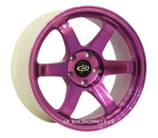 17 Rota Wheels 17x9 25 Grid Purple 08 09 10 11 STI Eclipse Accord