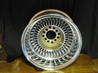 13x7 Wire Wheels Dayton Style Reverse 4 Lug Chrome Rim