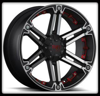T01 Cherokee Tracker Dakota Sorento 5 6 Lug Black Wheels Rims
