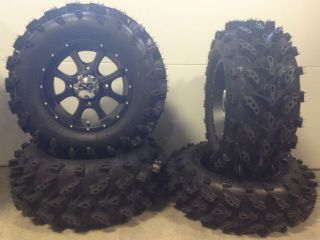 ITP SS108 14 Wheels Black 28 Swamp Lite Tires Polaris Sportsman
