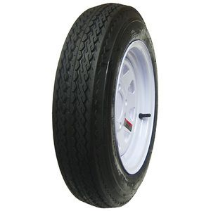 St 205 75R14 Radial Trailer Tires White Spoke Wheels Rims 14