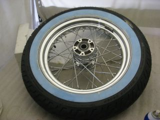 Harley Heritage Deluxe Softail Front Wheel Whitewall Tire 16 08 13