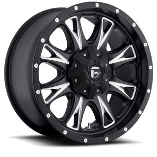 17 Fuel Throttle Black Wheels Jeep Wrangler JK 33 Toyo at Tires