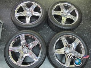 10 12 Mercedes Benz GL550 21 AMG Wheels Tires OEM Rims 85108 Chrome