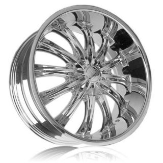 26Bentchi B15 Chrome Wheels 5x114 3 5x120 Box Chevy Old School
