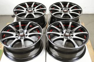 15 4x114 3 4x100 Black Rims Cobalt Civic Integra Aerio Cabrio Golf 4
