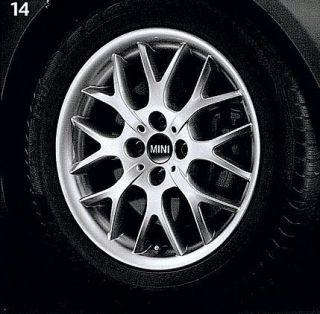 Mini Cooper 16 R90 Silver Cross Spoke Rim Wheel