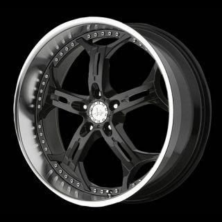 18 Helo HE834 18x8 5x120 Camaro Jimmy cts Black Wheels Rims Free Lugs