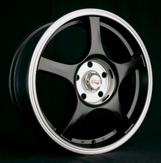 17 Black Wheels Rims Alt MSR XXR Honda Toyota Scion Mittsubishi Kia