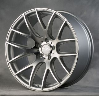 19 MIRO 111 RIMS WHEELS HYPER SILVER STAGGERED 19x8.5 +32 19x9.5 +40
