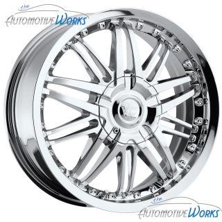 17x7 Vision Avenger 5x115 5x108 5x4 25 38mm Chrome Wheels Rims Inch 17