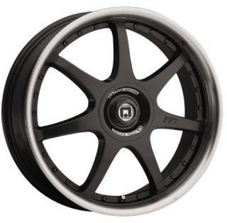 16 x7 Motegi FF7 MR237 Black Wheels Rims 4 5 Lug