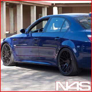 BMW E60 M5 Vertini Magic Concave Black Staggered Wheels Rims
