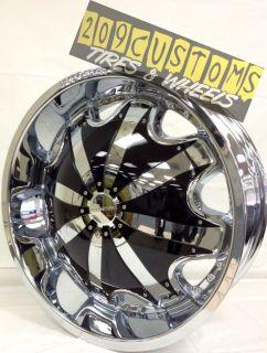26 inch Chrome Rims Wheels RW130 5x135 Ford F150 1998 1999 2000 2001