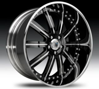 26 asanti AF134 Black Chrome Wheels Rims 3 Piece