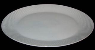 Bavaria Germany ESC10 Oval Platter All White Ribbed Rim 12 25