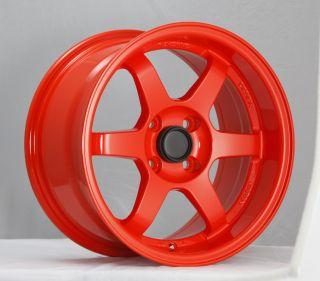 15x8 Konig Spooled Wheels 4x100 Rim 20mm Wheels Fits Integra 1986 2001
