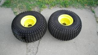 Pair of John Deere Gator Rims and Tires Carlisle at 25x12 9 New