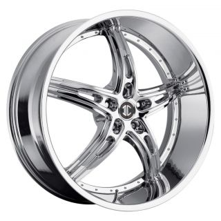 22 inch 2CRAVE NO25 Chrome Wheels Rims 5x5 Jeep Grand Cherokee Jeep