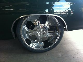 26 Starr Hammer 770 Chrome Wheels Rims Tires Package GMC