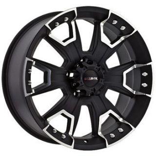 Ballistic Wheels 904 Havoc 6x139 7 Et 27 Flat Black 1 New Rim