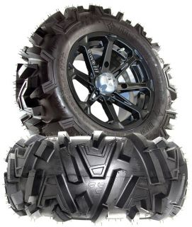 MSA Diesel M12 15x7 ATV Wheels on 28 Motomtc Tires for Honda Big Red