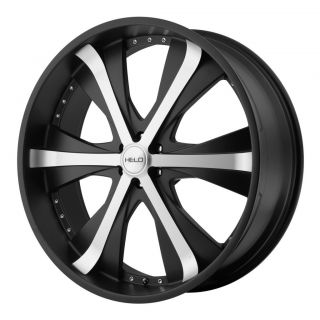 24 inch Helo Black Wheels Rims 6x5 5 6x139 7 30 Hummer H3 Canyon Tahoe