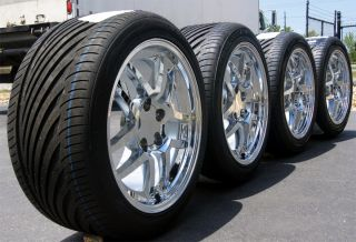 Chrome Corvette Z06 Wheels & Tires 17x9.5 & 18x10.5 Rims w/ Vredestein