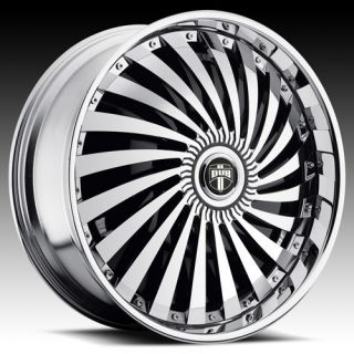 28 Dub Spin Swyrl Wheel Set 28x10 Chrome Rims for rwd 5 6 Lug