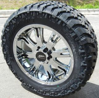 20 Chrome Dale Jr Wheels Nitto Trail Grappler Tires Chevy GMC Ford