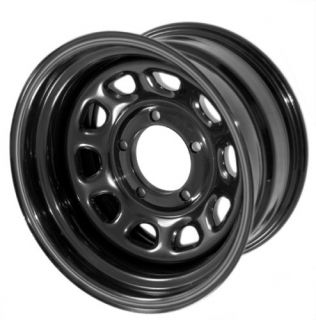 15500 02 Rugged Ridge BLACK Steel Wheel 15X10 5x4 5 JEEP WRANGLER TJ