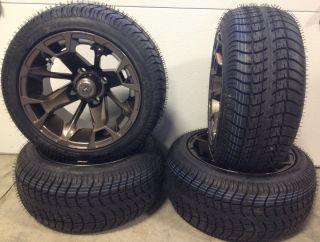 Fairway Alloys Elixir Wheels 12 205x30 12 Golf Tires 4 EZGO Club Car