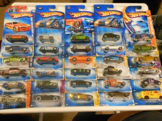 Lot Of 30 Hot Wheels Cars Trucks Hot Rods New Blister Many Pictures